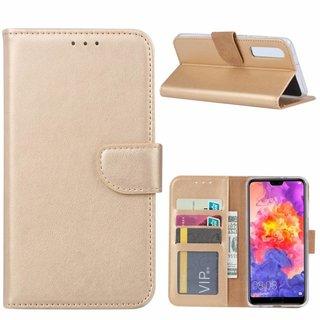 Bookcase Huawei P30 hoesje - Goud