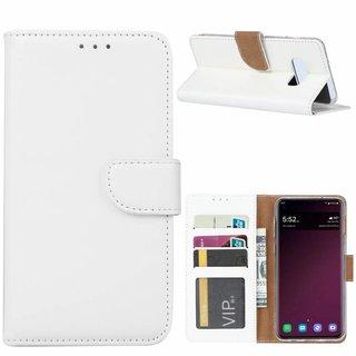 Bookcase Samsung Galaxy S10E hoesje - Wit
