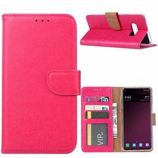 Luxe Lederen Bookcase hoesje voor de Samsung Galaxy S10E - Roze