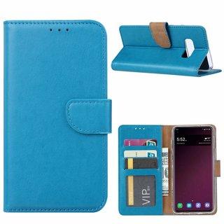 Luxe Lederen Bookcase hoesje voor de Samsung Galaxy S10E - Blauw