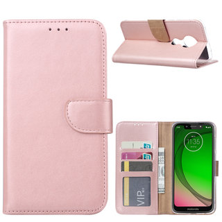Bookcase Motorola Moto G7 Play hoesje - Rosé Goud