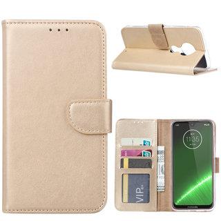 Bookcase Motorola Moto G7 Plus hoesje - Goud