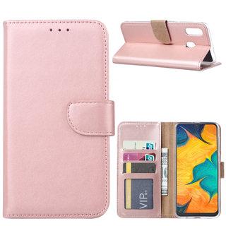 Bookcase Samsung Galaxy A30 hoesje - Rosé Goud
