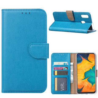 Bookcase Samsung Galaxy A30 hoesje - Blauw