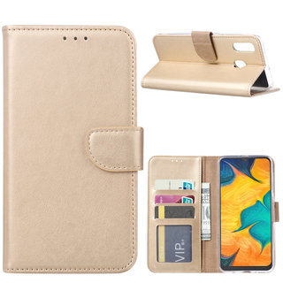 Bookcase Samsung Galaxy A30 hoesje - Goud