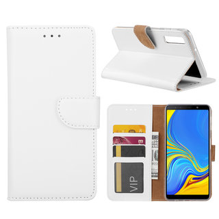 Bookcase Samsung Galaxy A7 2018 hoesje - Wit