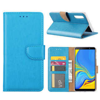 Bookcase Samsung Galaxy A7 2018 hoesje - Blauw