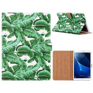 Planten print lederen standaard hoes voor de Samsung Galaxy Tab A (10.5 inch) - Wit