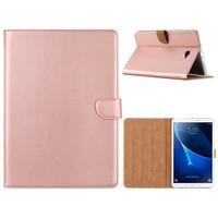 Luxe Lederen Standaard hoes voor de Samsung Galaxy Tab A - 2016 (10.1 inch) - Rosé Goud