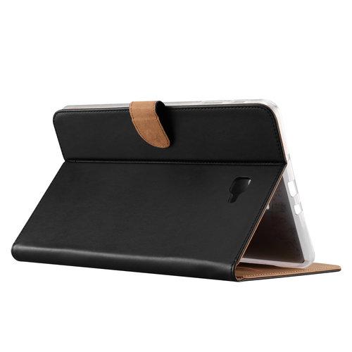 Luxe Lederen Standaard hoes voor de Samsung Galaxy Tab A - 2016 (10.1 inch) - Zwart