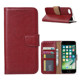 Bookcase Apple iPhone 7 hoesje - Bordeauxrood