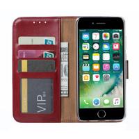 Bookcase Apple iPhone 8 hoesje - Bordeauxrood