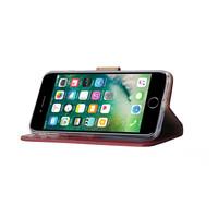 Bookcase Apple iPhone 8 Plus hoesje - Bordeauxrood