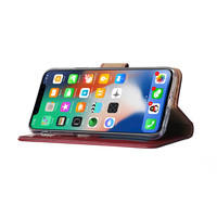 Bookcase Apple iPhone XS hoesje - Bordeauxrood