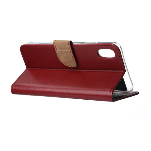 Bookcase Apple iPhone XS Max hoesje - Bordeauxrood