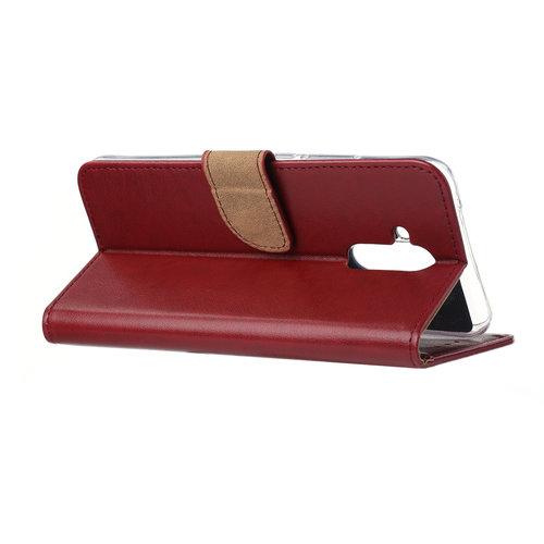 Bookcase Huawei Mate 20 Lite hoesje - Bordeauxrood