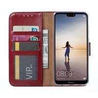 Bookcase Huawei P20 Lite hoesje - Bordeauxrood