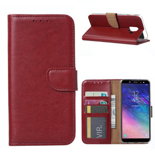 Bookcase Samsung Galaxy A6 2018 hoesje - Bordeauxrood