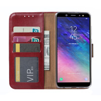 Bookcase Samsung Galaxy A6 2018 hoesje - Bordeauxrood