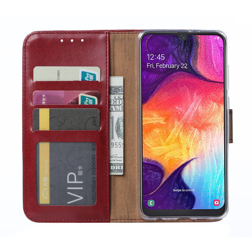 Bookcase Samsung Galaxy A50 hoesje - Bordeauxrood