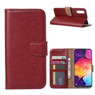 Bookcase Samsung Galaxy A50 hoesje - Bordeauxrood