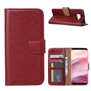 Bookcase Samsung Galaxy S8 hoesje - Bordeauxrood