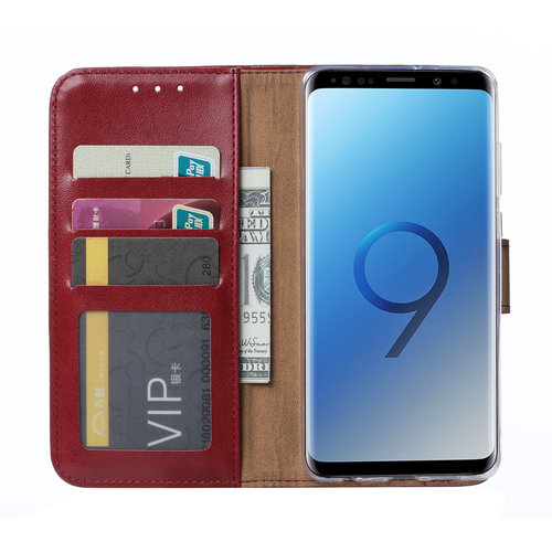 Bookcase Samsung Galaxy S9 hoesje - Bordeauxrood
