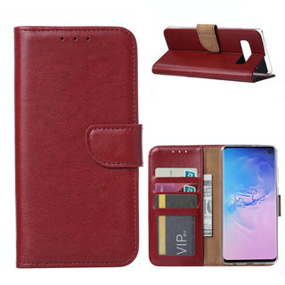 Bookcase Samsung Galaxy S10 hoesje - Bordeauxrood
