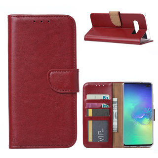 Bookcase Samsung Galaxy S10 Plus hoesje - Bordeauxrood