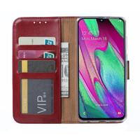Bookcase Samsung Galaxy A40 hoesje - Bordeauxrood