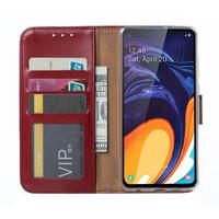 Bookcase Samsung Galaxy A60 hoesje - Bordeauxrood