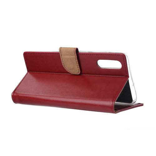 Bookcase Samsung Galaxy A70 hoesje - Bordeauxrood
