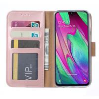 Bookcase Samsung Galaxy A40 hoesje - Rosé Goud