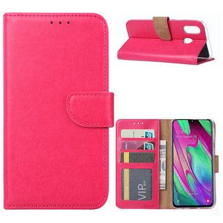 Bookcase Samsung Galaxy A40 hoesje - Roze