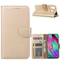 Bookcase Samsung Galaxy A40 hoesje - Goud