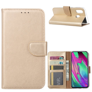 Bookcase Samsung Galaxy A40 hoesje - Goud