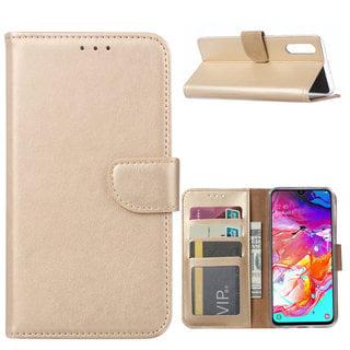 Bookcase Samsung Galaxy A70 hoesje - Goud