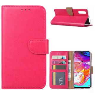 Bookcase Samsung Galaxy A70 hoesje - Roze