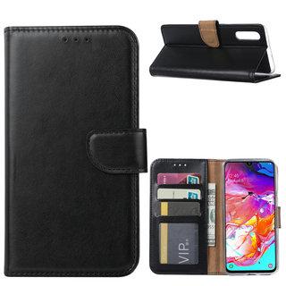 Bookcase Samsung Galaxy A70 hoesje - Zwart
