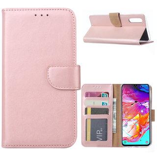 Bookcase Samsung Galaxy A70 hoesje - Rosé Goud