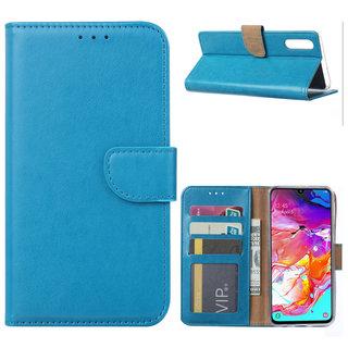 Bookcase Samsung Galaxy A70 hoesje - Blauw
