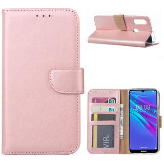 Bookcase Huawei Y6 2019 hoesje - Rosé Goud