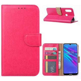 Bookcase Huawei Y6 2019 hoesje - Roze