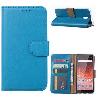 Bookcase Nokia 1 Plus hoesje - Blauw