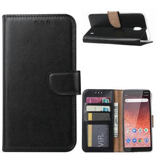 Bookcase Nokia 1 Plus hoesje - Zwart