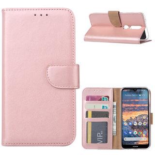 Bookcase Nokia 4.2 hoesje - Rosé Goud