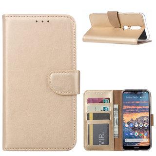 Bookcase Nokia 4.2 hoesje - Goud