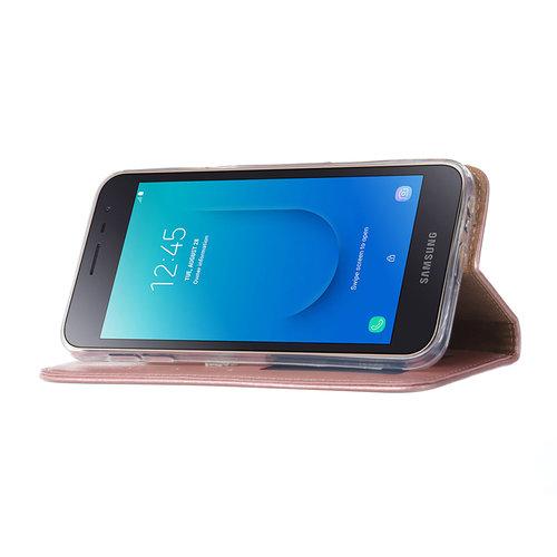 Bookcase Samsung Galaxy J2 Core hoesje - Rosé Goud