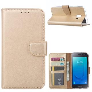 Bookcase Samsung Galaxy J2 Core hoesje - Goud