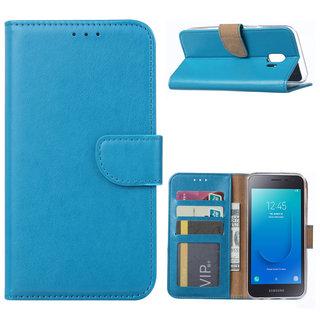 Bookcase Samsung Galaxy J2 Core hoesje - Blauw